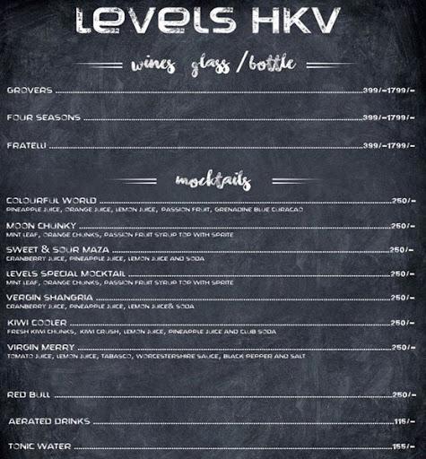 Menu 12 - Levels HKV, Hauz Khas Village, New Delhi