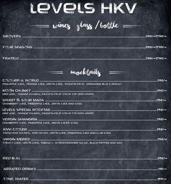 Levels HKV menu 12