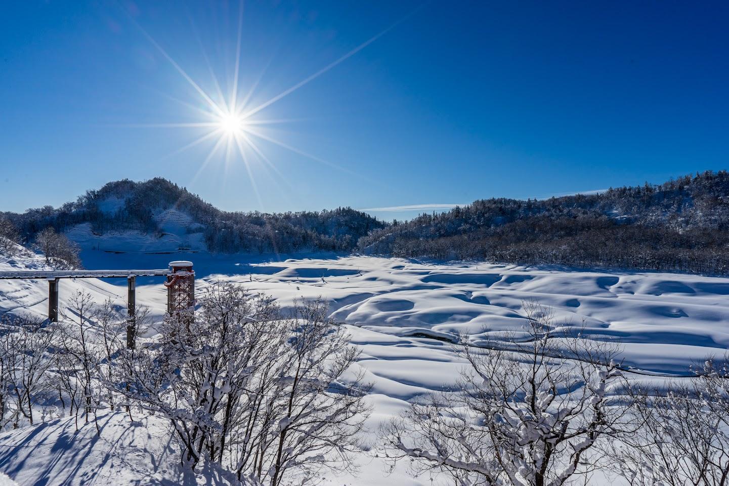 恵岱別ダム湖・冬