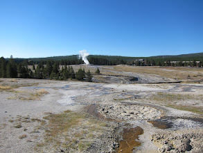 Photo: Old Faithful steals the show