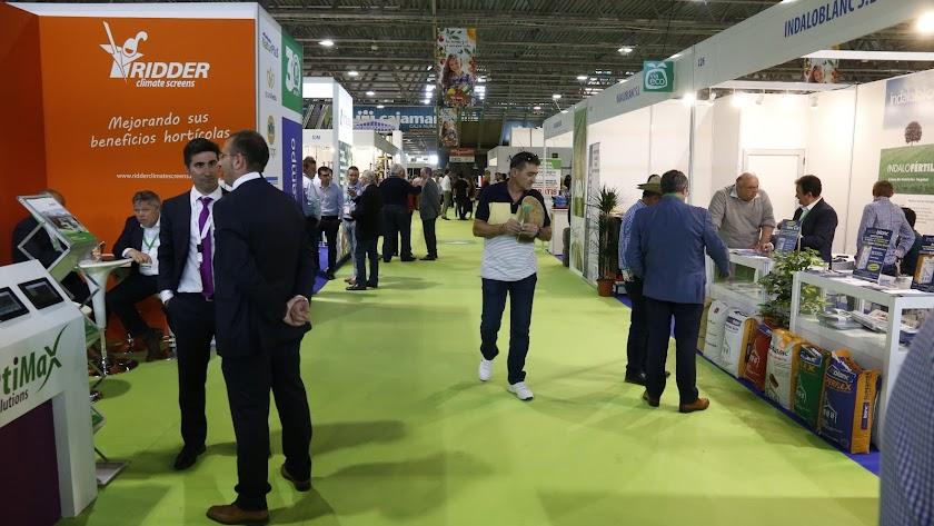 Una de las empresas expositoras, con el distintivo Vía Eco, durante Infoagro Exhibition 2017.