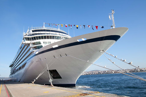 Viking-Star-docked-in-Istanbul.jpg - A few of the bow of Viking Star docked in Istanbul, Turkey.