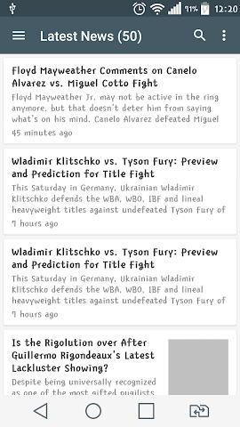 android Boxing News Screenshot 0