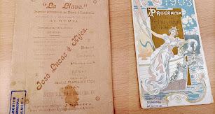 Los programas de 1903, el comercial de almacenes 'La Llave' y el oficial