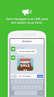 screenshot of LINE@App (LINEat)