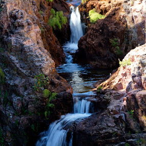 Tolmer Falls by Denise Flay - Landscapes Waterscapes (  )