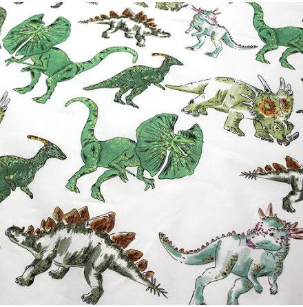 Dino Bomullsvoile - gröna nyanser