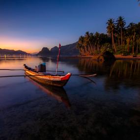 boat nirwana by Gian YE - Landscapes Sunsets & Sunrises ( nature, sunset, beach, sunrise, landscape, boat )