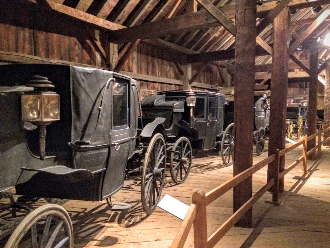 A barn that is slap jack full of carriages and sleighs. Must be one of the largest collections in the world...
