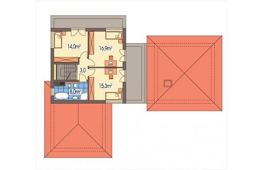 Andaluzja wersja A - Rzut piętra