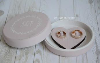 Photo: okrągłe pudełko na obrączki pink rustic