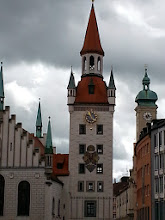 Photo: Old town hall: Disneyesque building on the right as you face the new town hall. All salt trade had to stop here in old days. It was completely rebuilt post bombs. In fact, only 2% of the buildings in Munich survived WW2 bombing (I stayed in one of them!)