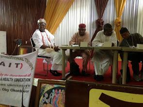 Photo: The Igwe of Enugu-Ukwu at the book presentation