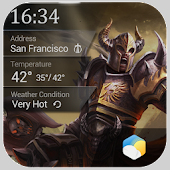 Weekly Weather&Clock Widget