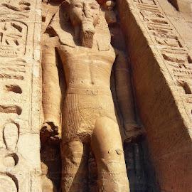 Pharaoh Ramses -Temple of Nefertari - Abu Simbel,Egypt by Jerko Čačić - Buildings & Architecture Statues & Monuments (  )