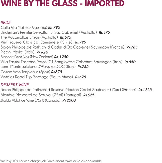 The Wine Rack menu 22