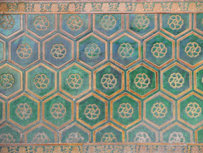 Photo: Blue, green, and gold tile work everywhere in the Forbidden City