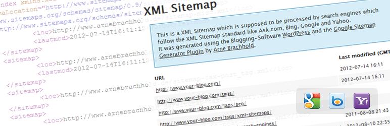 Плагины для WordPress: Google sitemap.xml
