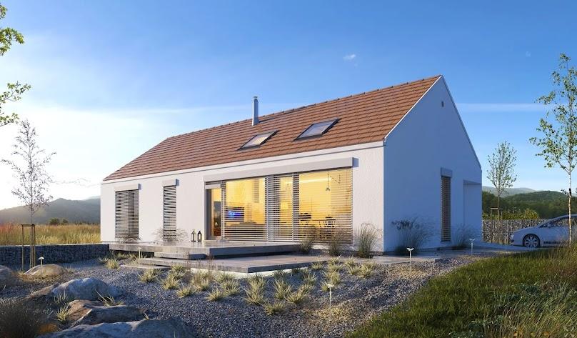 Dom energooszczędny posiada kompaktową i zwartą bryłę