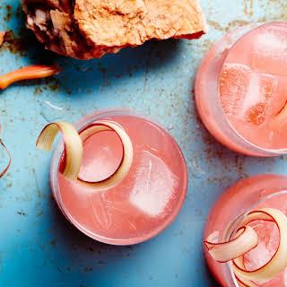 Rhubarb-Fennel Gin Cocktail.