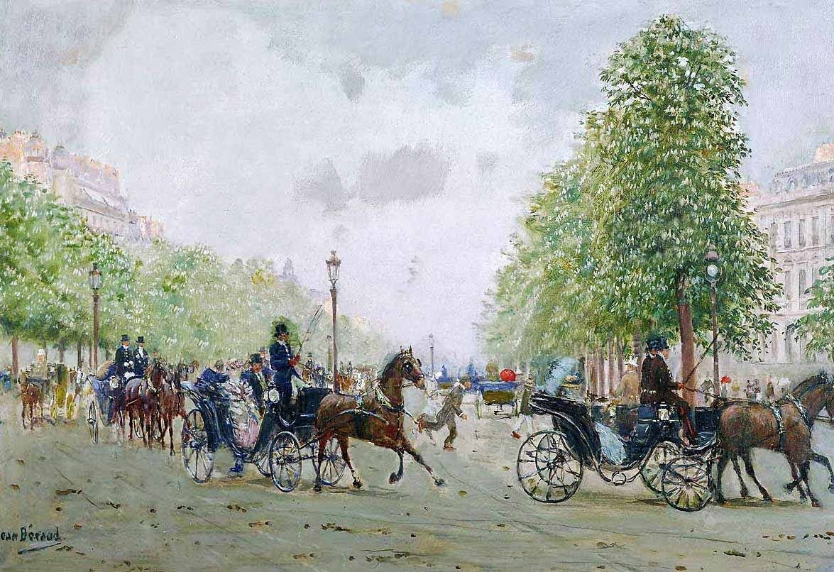 The Promenade on the Champs-Elysees by Jean-Georges Béraud.
