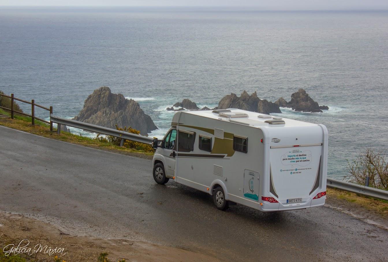 Autocaravana en Cabo Ortegal