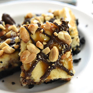 Snickers Cheesecake Bars.