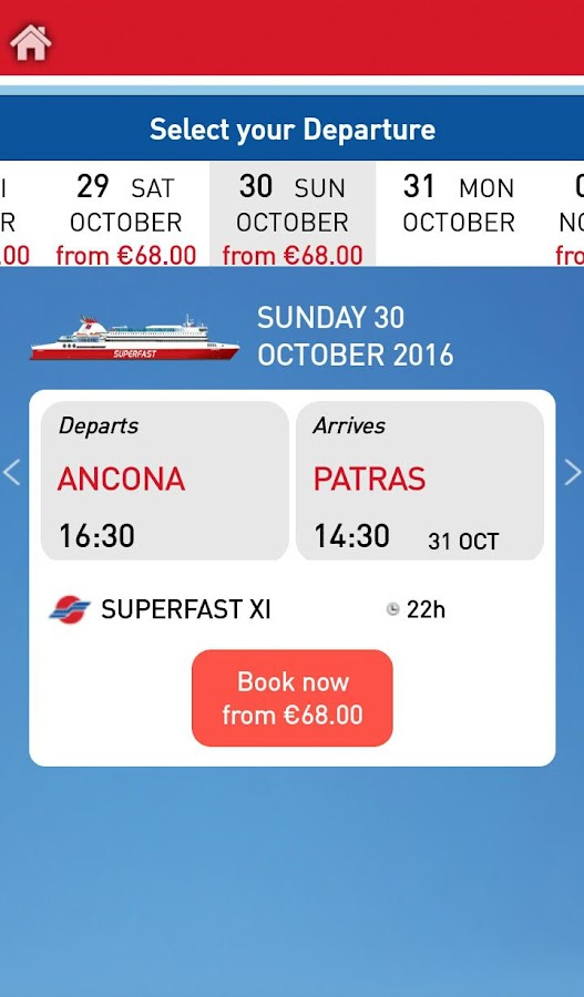 Superfast Ferries- screenshot
