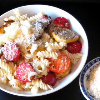 Gluten Free Pasta with Grilled Vegetables.