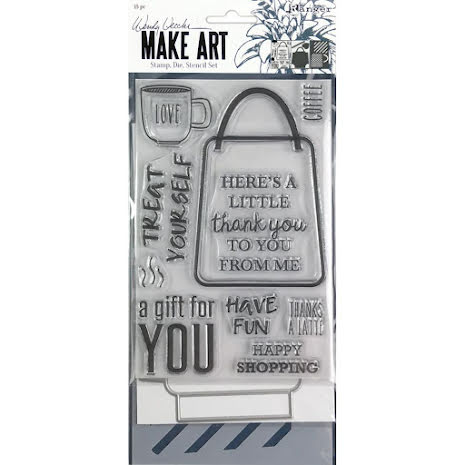 Wendy Vecchi Make Art Stamp Die & Stencil Set - Let's Shop