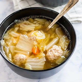 Cabbage and Pork Meatball Soup.
