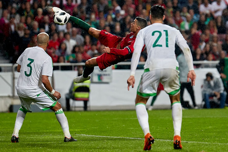 Cristiano Ronaldo of Portugal in action during the friendly match of preparation for FIFA 2018 World Cup between Portugal and Algeria at the Estadio do Sport Lisboa e Benfica on June 7 2018 in Lisboa, Portugal.