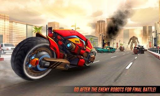 Real Flying Robot Bike : Robot Shooting Games 1