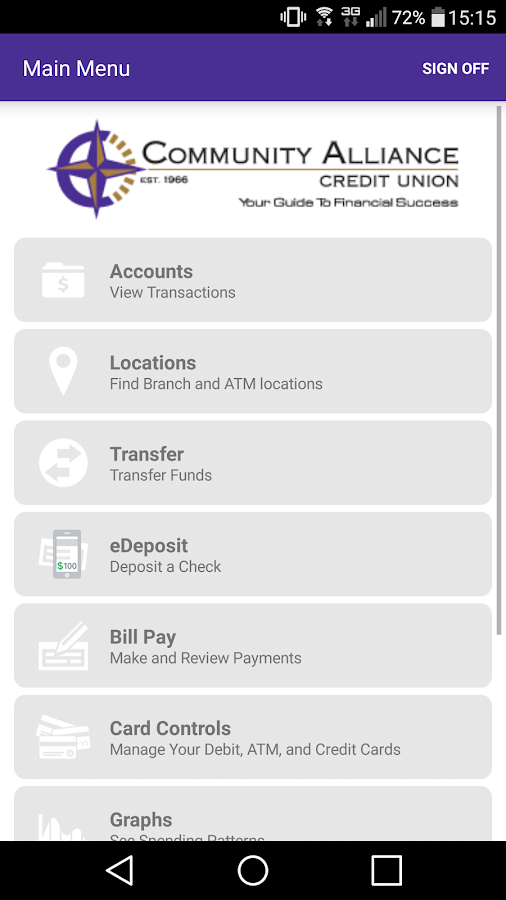 CACU Mobile Banking- screenshot