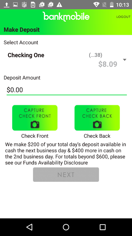 BankMobile- screenshot