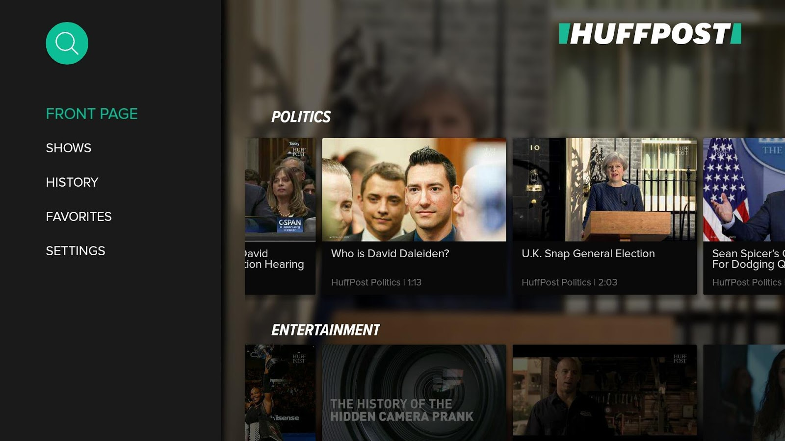 HuffPost for Android TV- screenshot