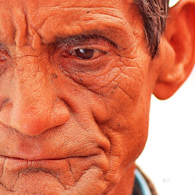 Old man by Prashant Thakur - People Portraits of Men ( lines of oldness., man portrait, old man )