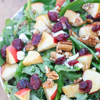 Apple Cranberry Pecan Salad with Balsamic Vinaigrette