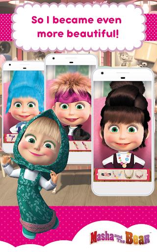 Masha and the Bear: Hair Salon and MakeUp Games 1.0.7 screenshots 10