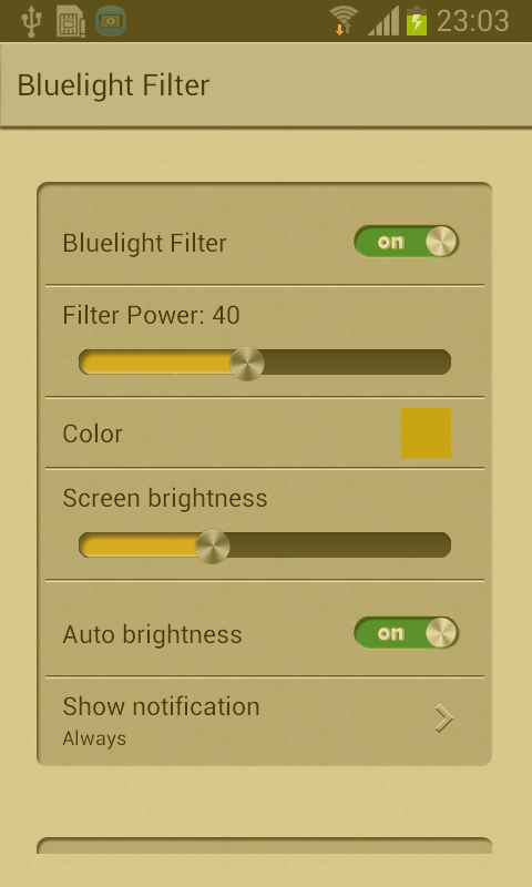 Blue Light Filter- screenshot