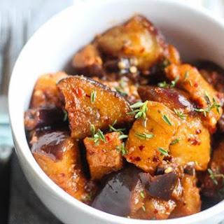 Stewed Eggplant with South African Braai Spice Rub Recipe