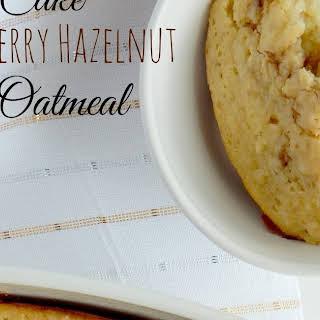 Yellow Cake Strawberry Hazelnut Baked Oatmeal.