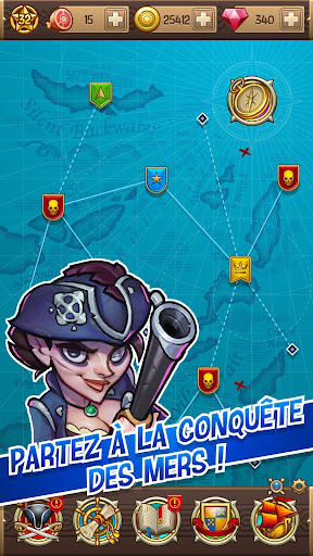 Sea devils - Le jeu d'exploration de pirates  captures d'u00e9cran 2