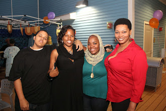 Photo: Guests with Tonya Boyd-Canon & Asia Rainey - Photo courtesy of Peter Nakhid