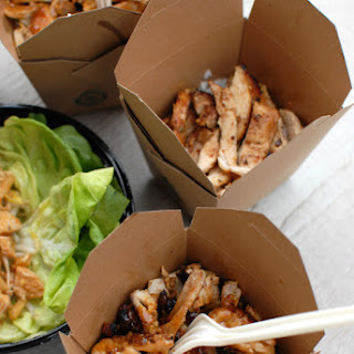 ASIAN BARBEQUE CHICKEN LETTUCE WRAPS