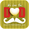 Father's day greetings Maker icon