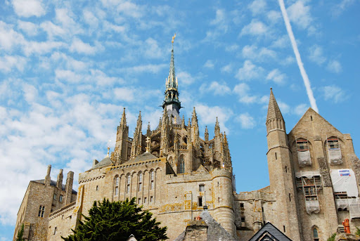 The Abbey of Mont St. Michel, France, was built in the 11th century.