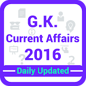 GK & Current Affairs 2016