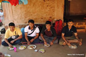 Photo: Jevanachi Pangat.... Menu : Rice, Chiken, Papad, Dal Tadaka and Batatyachi Bhaji