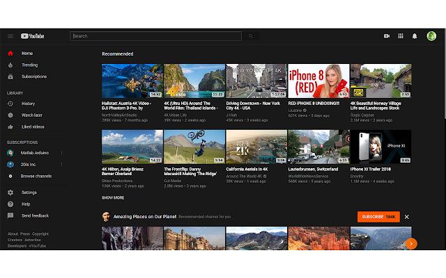 Youtube Dark Mode Themes